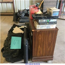 TV'S,GAS CONTAINERS,CAR RADIO,DVD PLAYER AND MORE MISC ITEMS.