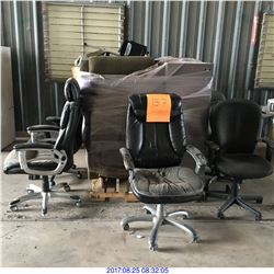 CHAIRS, FILING CABINET,SOFA SEATS,KEYBOARDS,DESK,COPIER AND MORE MISC ITEMS