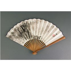 Fu Baoshi 1904-1965 Chinese Watercolour Paper Fan