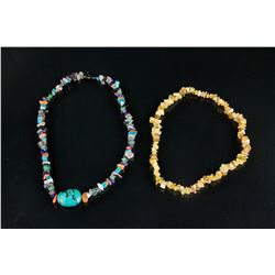 2 PC Assorted Chinese Hardstone Necklace