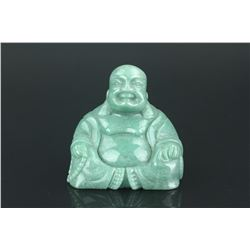Chinese Green Hardstone Carved Buddha