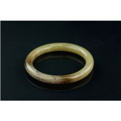 Chinese Brown Jade Carved Bangle