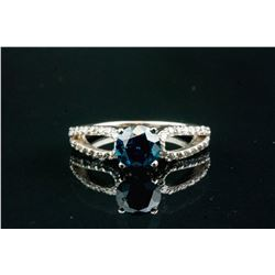 1.15ct Blue Diamond Ring with Music Box CRV$11000