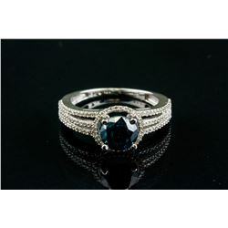 1.45ct Blue Diamond Ring with Music Box CRV$8200