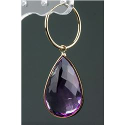 Large 31.50ct Amethyst Drop Earrings CRV$2950