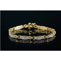 10k Yellow Gold 2.16ct Diamond Bracelet CRV$7600
