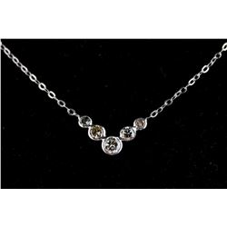 10k White Gold 0.71ct Diamond Necklace CRV$2500