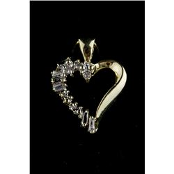 0.12ct Diamond Heart Shaped Pendant CRV$975