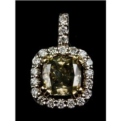 2.0ct Diamond & 0.37ct Diamond Pendant CRV$15000