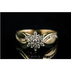 0.27ct Diamond Cluster Ring CRV$1695