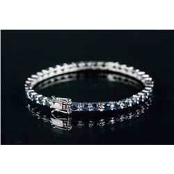Sterling Silver 4.0ct Sapphire Bangle CRV$895