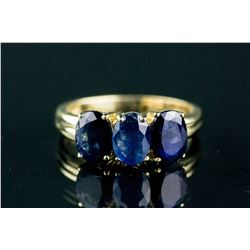 10k Yellow Gold 3.07ct Sapphires Ring CRV$2950