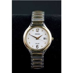 Seiko Solar Two Tone Ladies' Watch RV $239