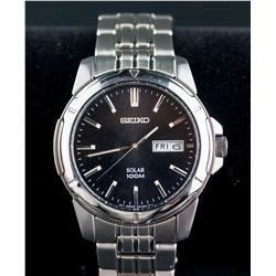 Seiko Solar Water Resistant Men Watch RV $235