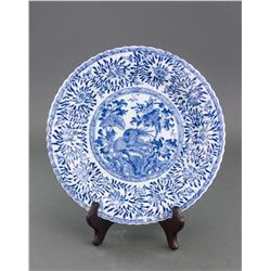 Chinese Export Blue &White Porcelain Saucer Kangxi