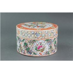Chinese Qing Period Famille Rose Porcelain Box