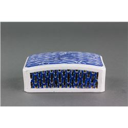 Chinese Blue&White Porcelain Paper Weight Jiaqing