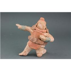 South American Pottery Warrior Statue