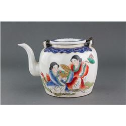 Chinese Famille Rose Porcelain Teapot Guangxu Mark