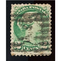 1868-1870 Canada Small 2 Cents Error Stamp