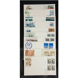 17 PC Assorted Canada Stamp with Envelopes