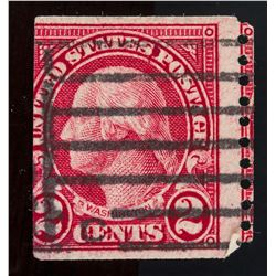 1922 United States 2 Cents Imperforate Error Stamp