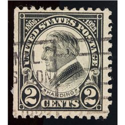 Rare 1923 US 2 Cents Harding Stamp Perf 11, 613