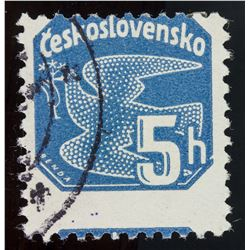 Error Czechoslovakia 5 H Stamp