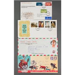 11 PC Assorted Canada, British and Mexico Stamps
