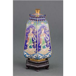 Chinese Fine Bronze Cloisonne Hexagon Vase