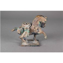 Chinese Bronze Horse Figure Detachable Saddle