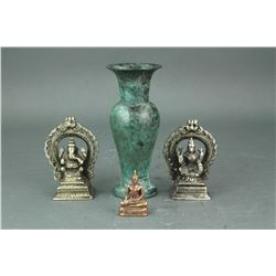 4 PC Group of Chinese Bronze Items