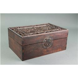 Chinese Rosewood Carved Box