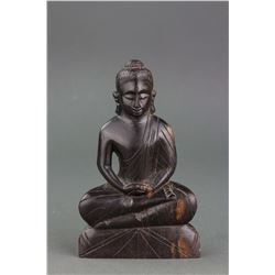 Chinese Black Rosewood Carved Buddha Statue