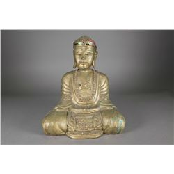 Chinese Gilt Wooden Carved Buddha Figure