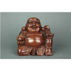 Chinese Rosewood Carved Buddha