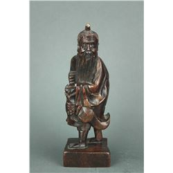 Chinese Wood Carved Old man