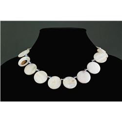 Chinese Shell Carved Necklace