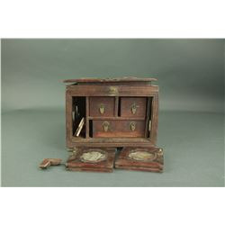 Chinese Rosewood Jewellery Box Damaged Condition