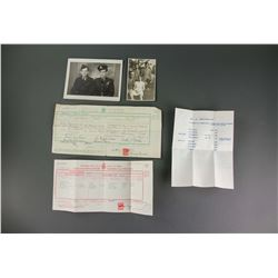 5 PC Canadian Historical Personal Documents