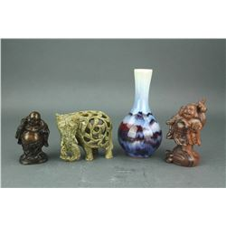 4 PC Group Chinese Decorative Items