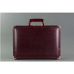 Presto Men's Leather Combination Lock Briefcase