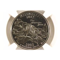 2002-S MISSISSIPPI QUARTER NGC PF69 ULTRA CAMEO