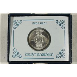 1982-D GEORGE WASHINGTON COMMEMORATIVE SILVER