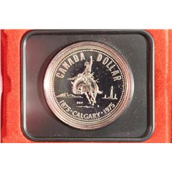 1975 CANADA CALGARY SILVER DOLLAR PROOF, .3750 OZ. ASW