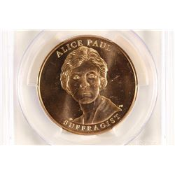 2012 ALICE PAUL MEDAL PCGS MS67RD