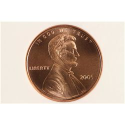 2005 SMS LINCOLN CENT NGC MS66RD