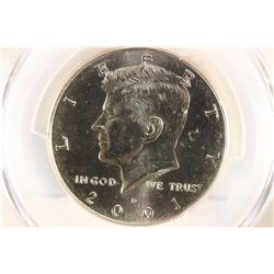 2001-D KENNEDY HALF DOLLAR PCGS MS65