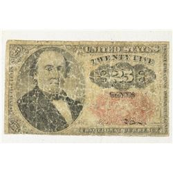 CIVIL WAR ERA 25 CENT US FRACTIONAL CURRENCY