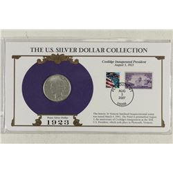 1923-S PEACE SILVER DOLLAR & STAMP SET